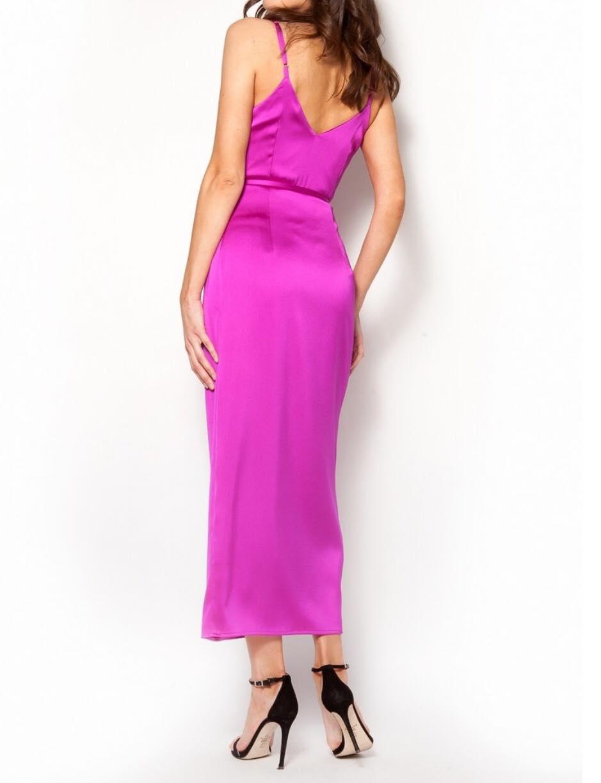 7a51754b3871 Σατέν φόρεμα κιμονό μακρύ φούξια