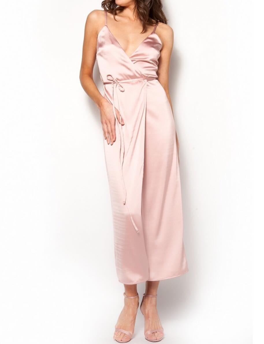 282a0bb6991 Σατέν φόρεμα κιμονό μακρύ ροζ