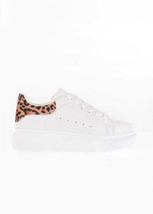 Sneaker λευκό με λεοπάρ 5784f494e36