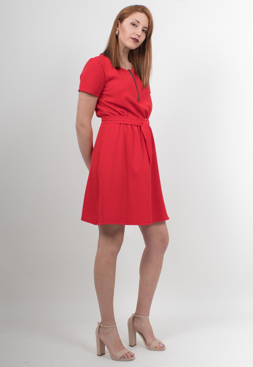 3e05cdc68b8 Μίνι φόρεμα κόκκινο με μανίκι