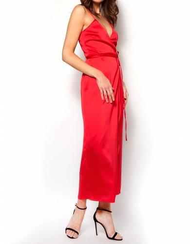 566b1e114e44 Σατέν φόρεμα κιμονό μακρύ ροζ