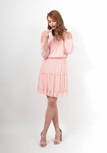 8306cc61b92 Φόρεμα μίνι με βολάν